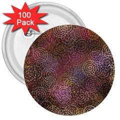 2000 Spirals Many Colorful Spirals 3  Buttons (100 pack)
