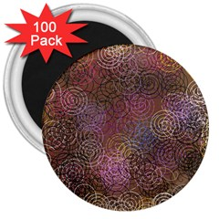 2000 Spirals Many Colorful Spirals 3  Magnets (100 pack)