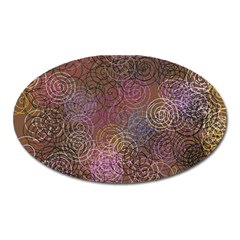 2000 Spirals Many Colorful Spirals Oval Magnet