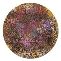 2000 Spirals Many Colorful Spirals Magnet 5  (round)