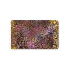 2000 Spirals Many Colorful Spirals Magnet (Name Card)