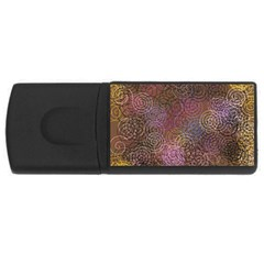 2000 Spirals Many Colorful Spirals USB Flash Drive Rectangular (2 GB)