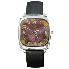 2000 Spirals Many Colorful Spirals Square Metal Watch
