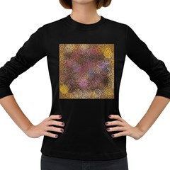 2000 Spirals Many Colorful Spirals Women s Long Sleeve Dark T Shirts