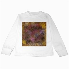 2000 Spirals Many Colorful Spirals Kids Long Sleeve T Shirts