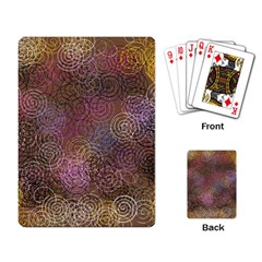 2000 Spirals Many Colorful Spirals Playing Card