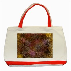 2000 Spirals Many Colorful Spirals Classic Tote Bag (Red)