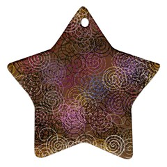 2000 Spirals Many Colorful Spirals Star Ornament (two Sides)