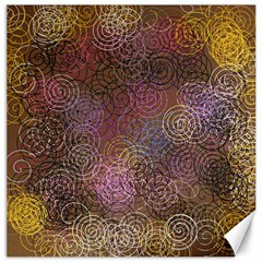 2000 Spirals Many Colorful Spirals Canvas 20  x 20