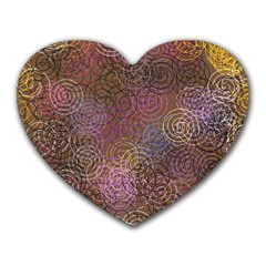2000 Spirals Many Colorful Spirals Heart Mousepads