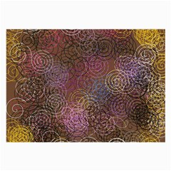 2000 Spirals Many Colorful Spirals Large Glasses Cloth