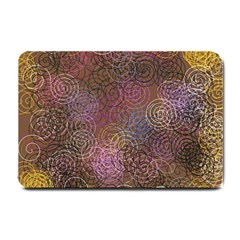 2000 Spirals Many Colorful Spirals Small Doormat