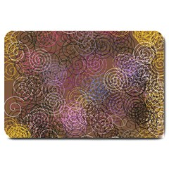 2000 Spirals Many Colorful Spirals Large Doormat