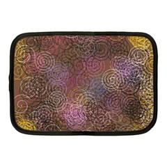 2000 Spirals Many Colorful Spirals Netbook Case (medium)
