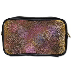 2000 Spirals Many Colorful Spirals Toiletries Bags 2-Side