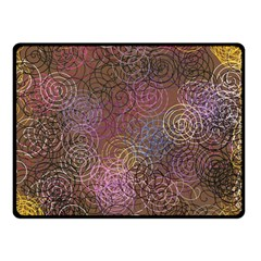 2000 Spirals Many Colorful Spirals Fleece Blanket (Small)