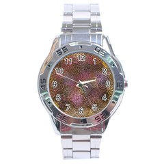 2000 Spirals Many Colorful Spirals Stainless Steel Analogue Watch