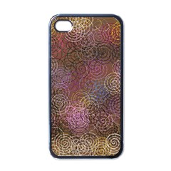 2000 Spirals Many Colorful Spirals Apple iPhone 4 Case (Black)