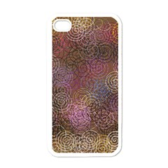 2000 Spirals Many Colorful Spirals Apple iPhone 4 Case (White)