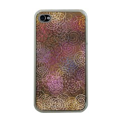 2000 Spirals Many Colorful Spirals Apple iPhone 4 Case (Clear)