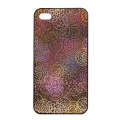 2000 Spirals Many Colorful Spirals Apple iPhone 4/4s Seamless Case (Black)