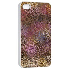 2000 Spirals Many Colorful Spirals Apple iPhone 4/4s Seamless Case (White)