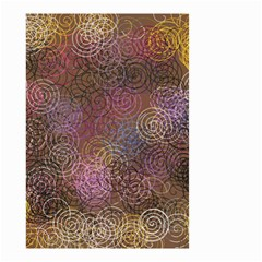 2000 Spirals Many Colorful Spirals Small Garden Flag (Two Sides)