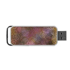 2000 Spirals Many Colorful Spirals Portable Usb Flash (one Side)