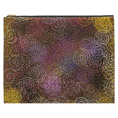 2000 Spirals Many Colorful Spirals Cosmetic Bag (xxxl)