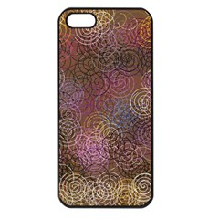 2000 Spirals Many Colorful Spirals Apple Iphone 5 Seamless Case (black)