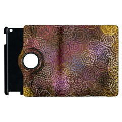 2000 Spirals Many Colorful Spirals Apple Ipad 2 Flip 360 Case