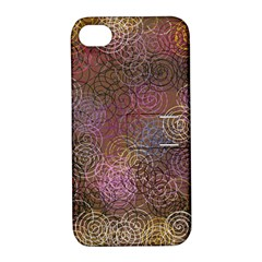 2000 Spirals Many Colorful Spirals Apple Iphone 4/4s Hardshell Case With Stand