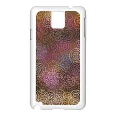 2000 Spirals Many Colorful Spirals Samsung Galaxy Note 3 N9005 Case (white)