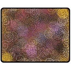 2000 Spirals Many Colorful Spirals Double Sided Fleece Blanket (Medium)