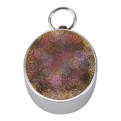 2000 Spirals Many Colorful Spirals Mini Silver Compasses