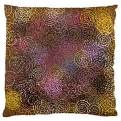 2000 Spirals Many Colorful Spirals Standard Flano Cushion Case (Two Sides)