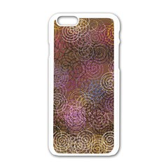 2000 Spirals Many Colorful Spirals Apple iPhone 6/6S White Enamel Case