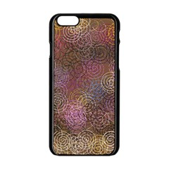 2000 Spirals Many Colorful Spirals Apple Iphone 6/6s Black Enamel Case