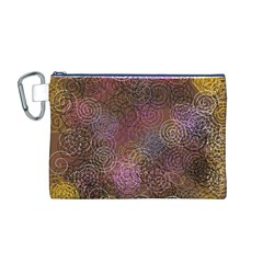 2000 Spirals Many Colorful Spirals Canvas Cosmetic Bag (M)
