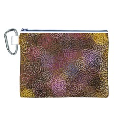 2000 Spirals Many Colorful Spirals Canvas Cosmetic Bag (L)
