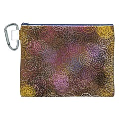 2000 Spirals Many Colorful Spirals Canvas Cosmetic Bag (XXL)