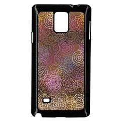 2000 Spirals Many Colorful Spirals Samsung Galaxy Note 4 Case (Black)