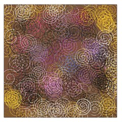 2000 Spirals Many Colorful Spirals Large Satin Scarf (Square)