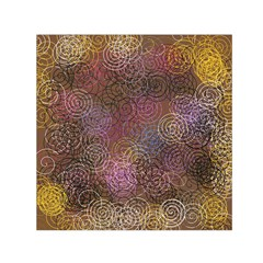2000 Spirals Many Colorful Spirals Small Satin Scarf (square)
