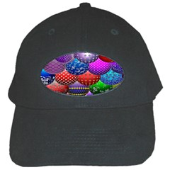 Fun Balls Pattern Colorful And Ornamental Balls Pattern Background Black Cap