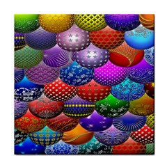 Fun Balls Pattern Colorful And Ornamental Balls Pattern Background Tile Coasters