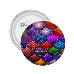 Fun Balls Pattern Colorful And Ornamental Balls Pattern Background 2.25  Buttons