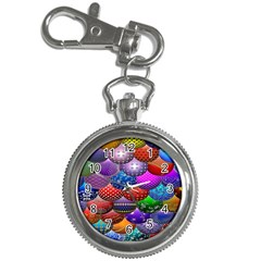 Fun Balls Pattern Colorful And Ornamental Balls Pattern Background Key Chain Watches