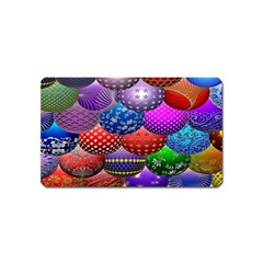 Fun Balls Pattern Colorful And Ornamental Balls Pattern Background Magnet (Name Card)