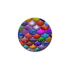 Fun Balls Pattern Colorful And Ornamental Balls Pattern Background Golf Ball Marker (10 pack)